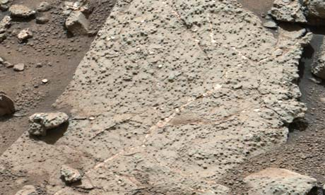 Mars Rover Drills into Surface