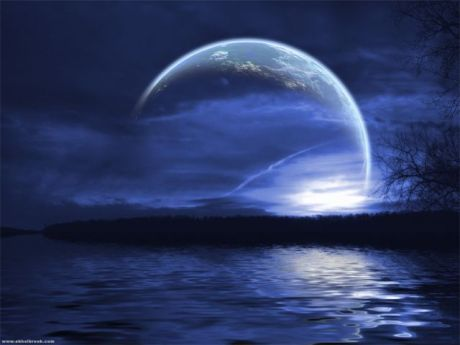 blue-moon-water-night