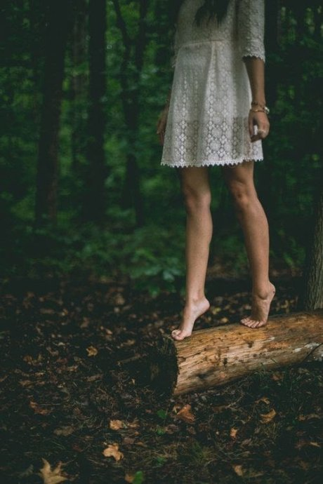 barefoot-in-woods