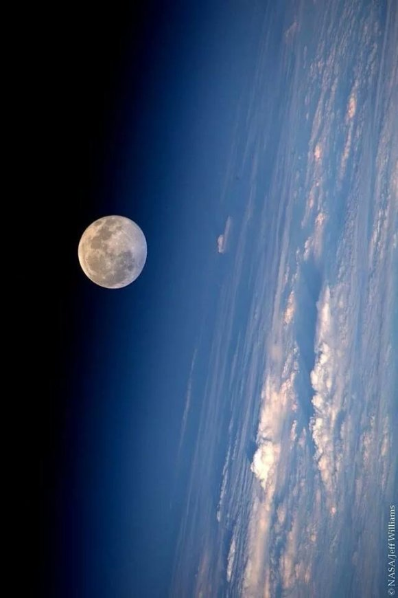 Full Moon From ISS