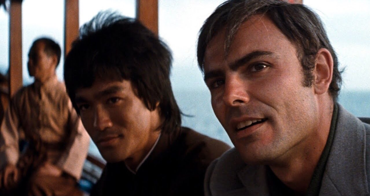 John Saxon and Bruce Lee